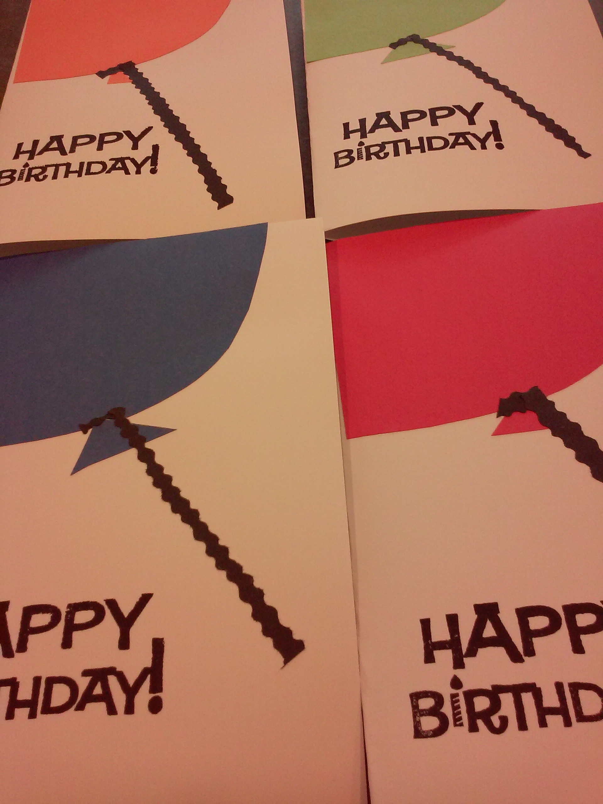 finished balloon cards