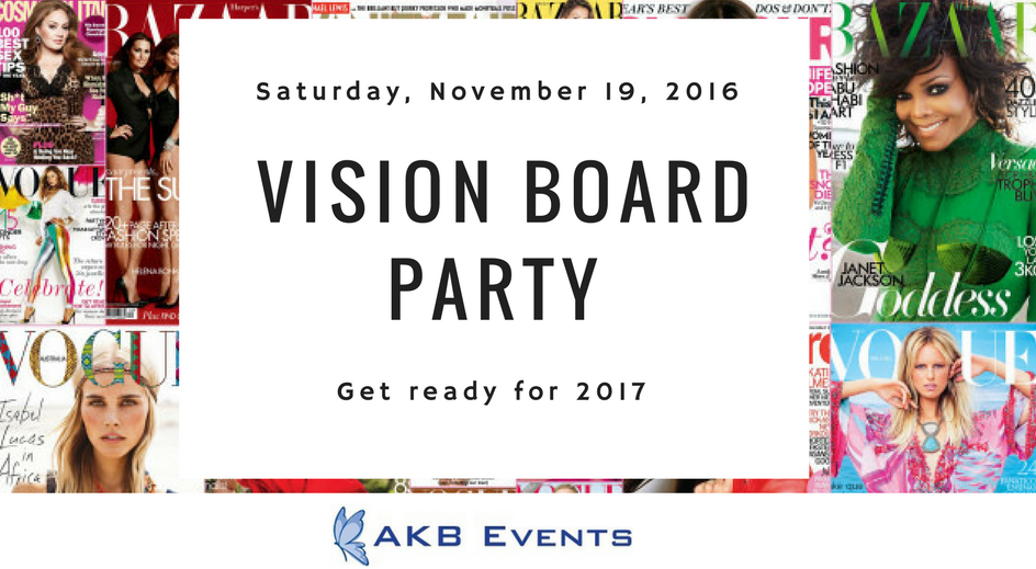 Vision board party logo