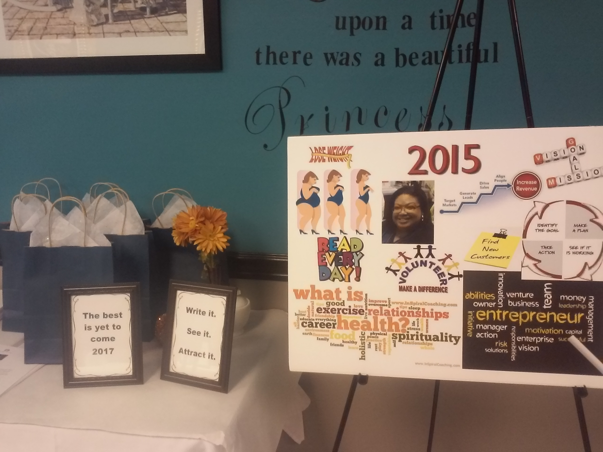 vision board party display 2